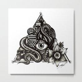 Triangle eye snake Metal Print