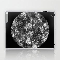 Silver Moon - Abstract, textured silver foil lunar design Laptop & iPad Skin