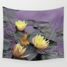 tinker bell & tiger lilies Wall Tapestry