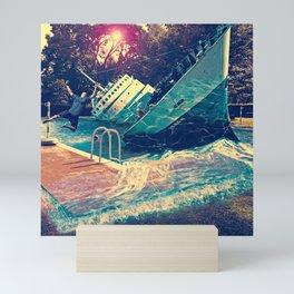 Sinking into the Pool Mini Art Print