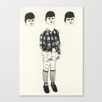 socks Canvas Prints featuring Socks by Estelle Morris Illustration