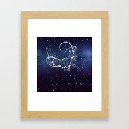 Capricon Star Framed Art Print