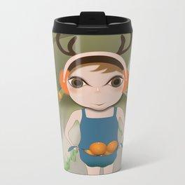 Deery Fairy and Oranges Metal Travel Mug