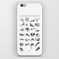 animal skull iPhone & iPod Skins featuring Animal Skull Alphabet by Stephan Brusche