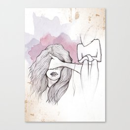 Faceless Fear Canvas Print