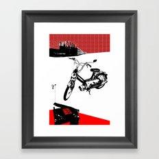 Dearborn Moped Framed Art Print