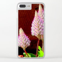 A Flurry Of Furry Flowers Clear iPhone Case