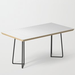Black and White Thin Grid Graph Coffee Table
