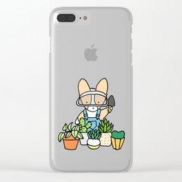 Corgi Garden Succulents Clear iPhone Case