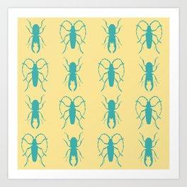 Beetle Grid V2 Art Print
