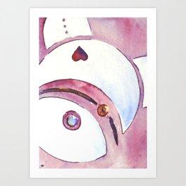 Lovebot Bear Art Print