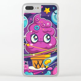 Sugar High: Cosmic Swirl Clear iPhone Case