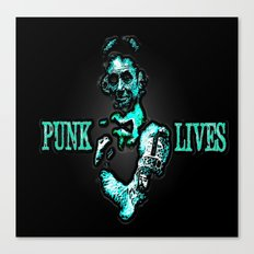 PUNK LIVES BY Cd KIRVEN Canvas Print