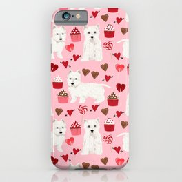 Westie west highland terrier dog breed valentines day cute dog person must have gifts pet portraits iPhone Case