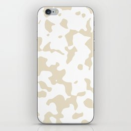 Large Spots - White and Pearl Brown iPhone Skin