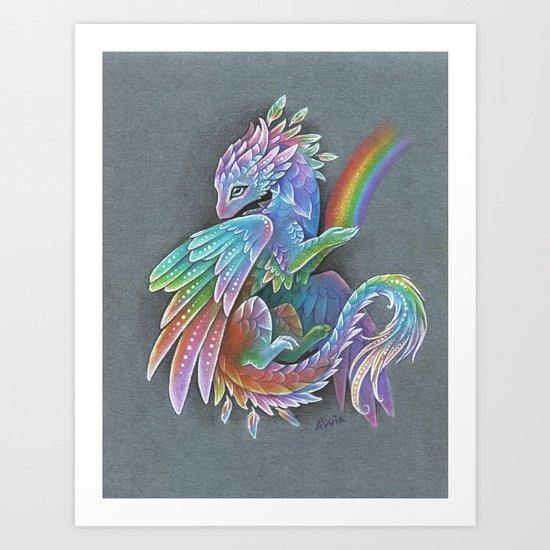 Rainbow dragon by alviaalcedo