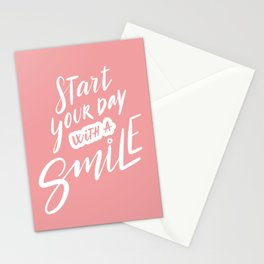 Start Your Day with a Smile Stationery Cards