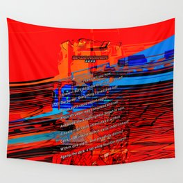 Cells Interlinked - Bold Red and Blue Wall Tapestry