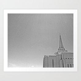 Temple Break Art Print