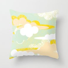 70's Sky Throw Pillow