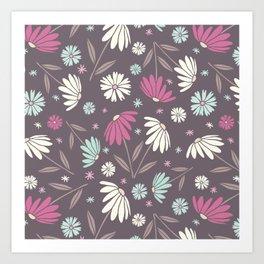 Garden Flowers Style R Art Print
