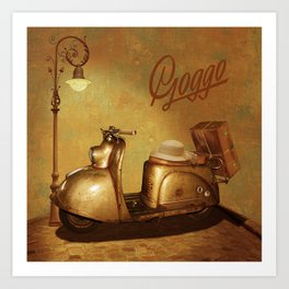 Goggo scooter from the 50s Art Print