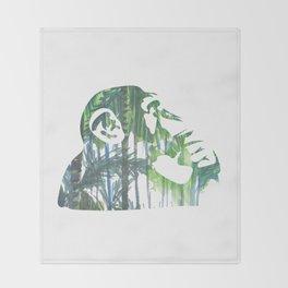 Banksy Chimps Throw Blanket