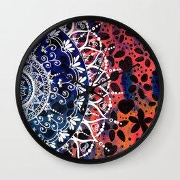 Flower Mandala Pattern Wall Clock