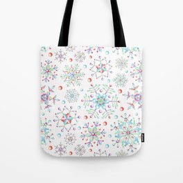 Snowflake Kaleidoscope Tote Bag