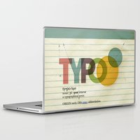 typo Laptop & iPad Skins featuring typo by Vin Zzep