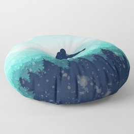Snowboard Skyline II Floor Pillow