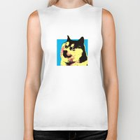 doge Biker Tanks featuring Doge Pop by Julien