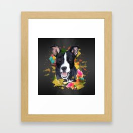 Black pup Framed Art Print