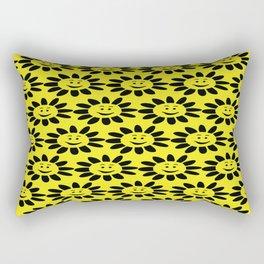Smile Flower Pattern Rectangular Pillow