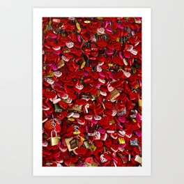 Padlocks of Love Art Print