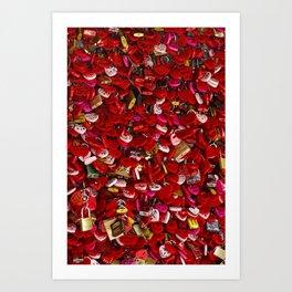 Padlocks of Love Art Print