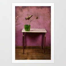 The colorful decay of plants Art Print