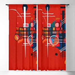 Wassily Kandinsky Red 400 Blackout Curtain