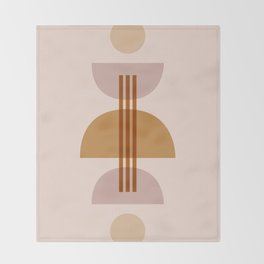 Amber Abstract Half Moon 1 Throw Blanket