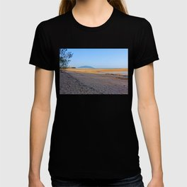 secluded beach at low tide T-shirt
