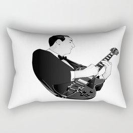 LES PAUL House of Sound - BLACK GUITAR Rectangular Pillow