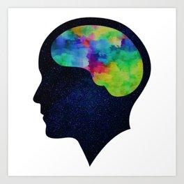 Colorful mind - Mental Health Awareness Art Print