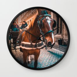 Horse in the City Wall Clock