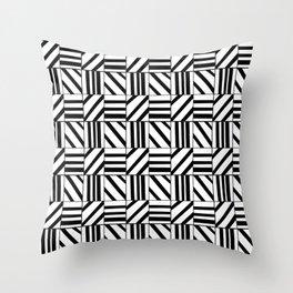 symetric tartan and gingham 16 -vichy, gingham,strip,square,geometric, sober,tartan Throw Pillow