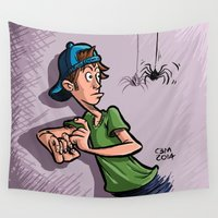 spider Wall Tapestries featuring Spider by Mario CBM Caruso
