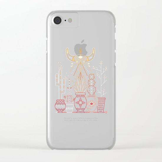 Santa Fe Garden – Orange Sunset Clear iPhone Case