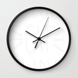 Future Cat Lady Whiskers Wall Clock