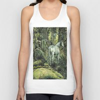 pixies Tank Tops featuring Unicorn & Pixies by Mike Lowe