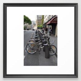 Parisian Bicycles Framed Art Print