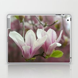 Pastel blossoms (Japanese magnolia) Laptop & iPad Skin